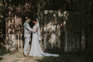 UK-Bride-Lauren-Wearing-the-Valentina-Backless-Long-Sleeve-Lace-Wedding-Dress