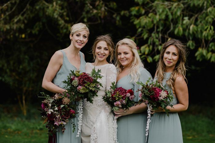 bohemian-bridesmaids-at-bohemian-wedding-in-Scotland-at-Cambo-Estate