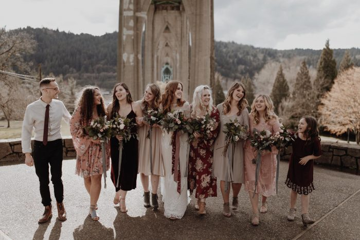 the-boho-bride-and-her-bridesmaids-at-cathedral-park-in-Portland