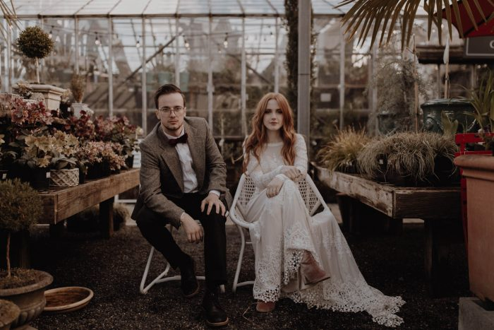 bHanna-and-Matthias-in-a-greenhouse-in-Portland-for-their-boho=wedding