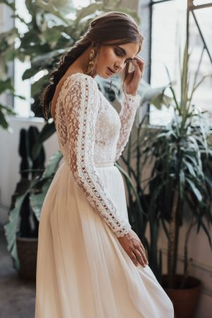 sheer-inset-sleeves-flowy-boho-lace-gown