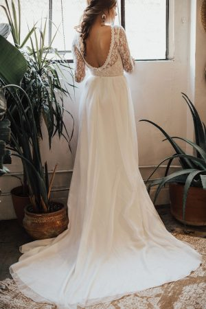 open-back-long-sleeve-lace-and-silk-flowy-wedding-gown