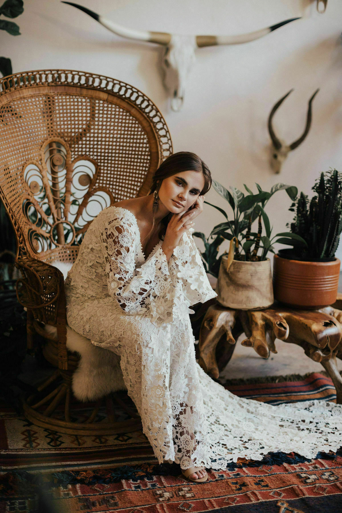 Dreamers-and-Lovers-boho-bell-sleeves-crochet-wedding-dress