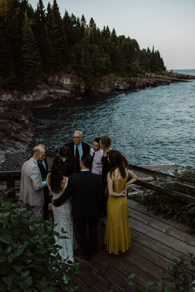Bride-Laura-elopement-wedding at Lake-Superior-in-Minnesota