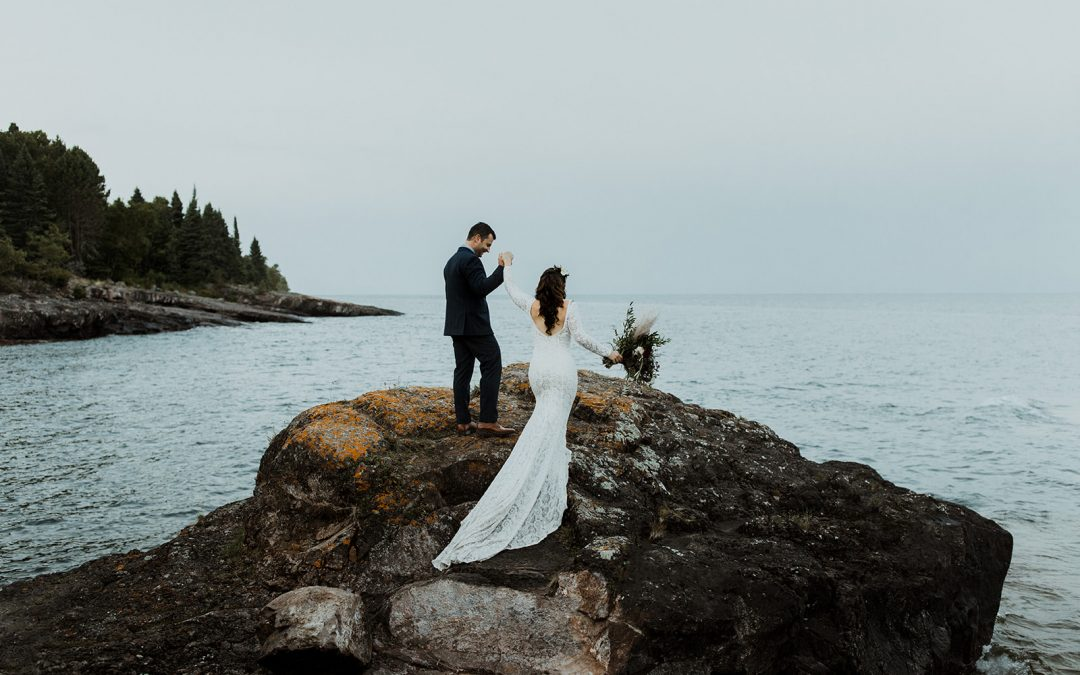 240d5548626a2 An Intimate Wedding at Lake Superior