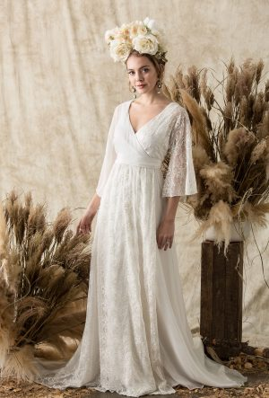 a-line-silk-wedding-dress-wrap-silhouette-with-v-neck-and-kimono-sleeves