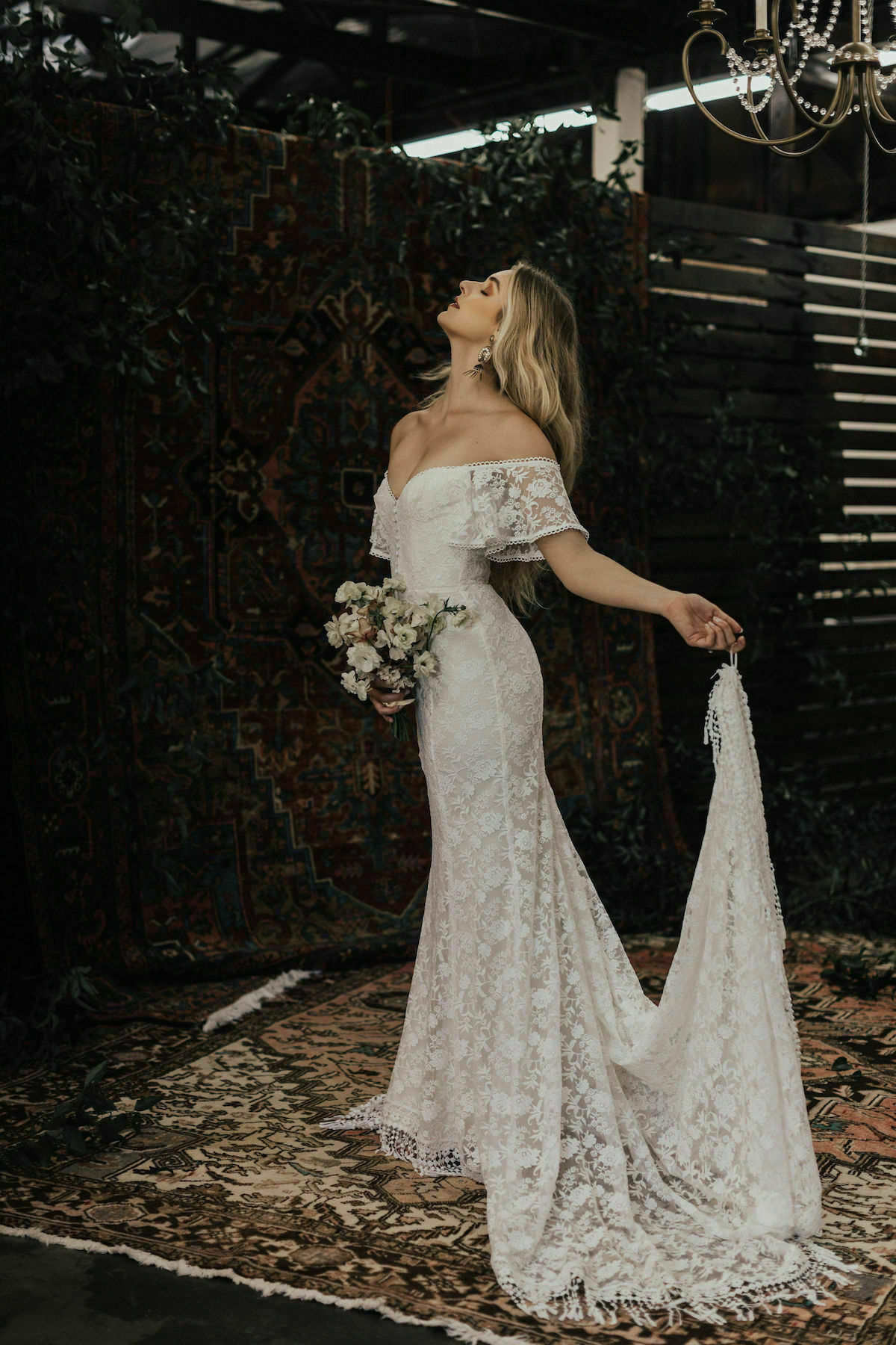 Callista Off Shoulder Wedding Dress