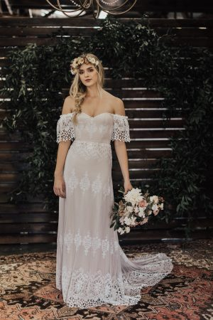 Carrie-off-shoulder-sweetheart-neckline-boho-wedding-gown-with-crochet-details
