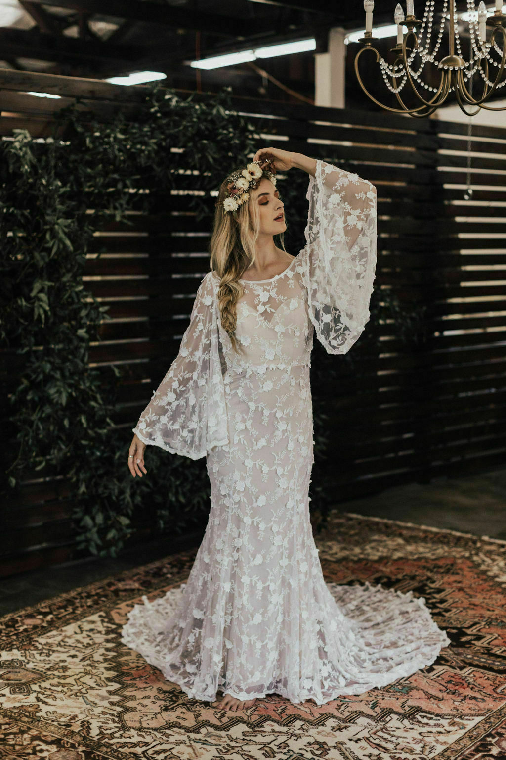 Samantha-bell-sleeves-bohemian-wedding-gown