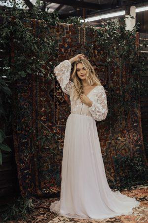 Yaya-silk-multidimensional-3d-cotton-lace-flowy-bohemian-wedding-gown