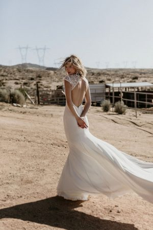 evie-crepe-and-lace-high-neck-cut-out-open-back-wedding-dress-made-in-California
