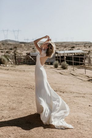 evie-crepe-and-lace-high-neck-cut-out-open-back-wedding-dress-made-in-California-to-your-exact-measurements