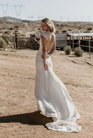 EVIE LACE - CREPE WEDDING DRESS
