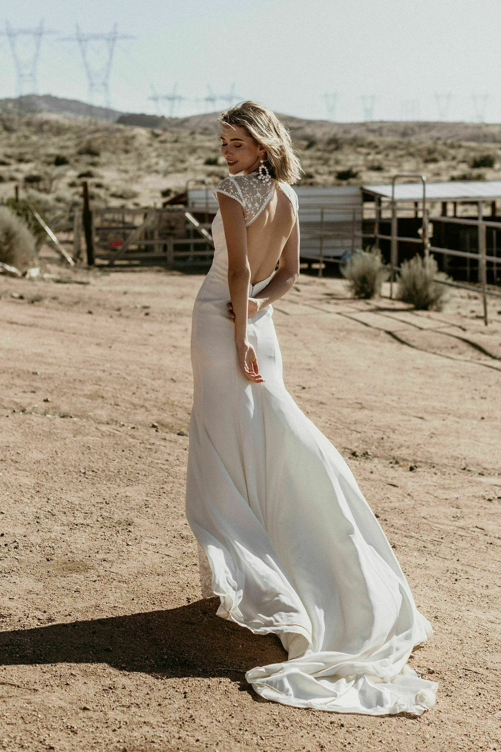 Evie Backless Minimalist Wedding Dress Dreamers And Lovers