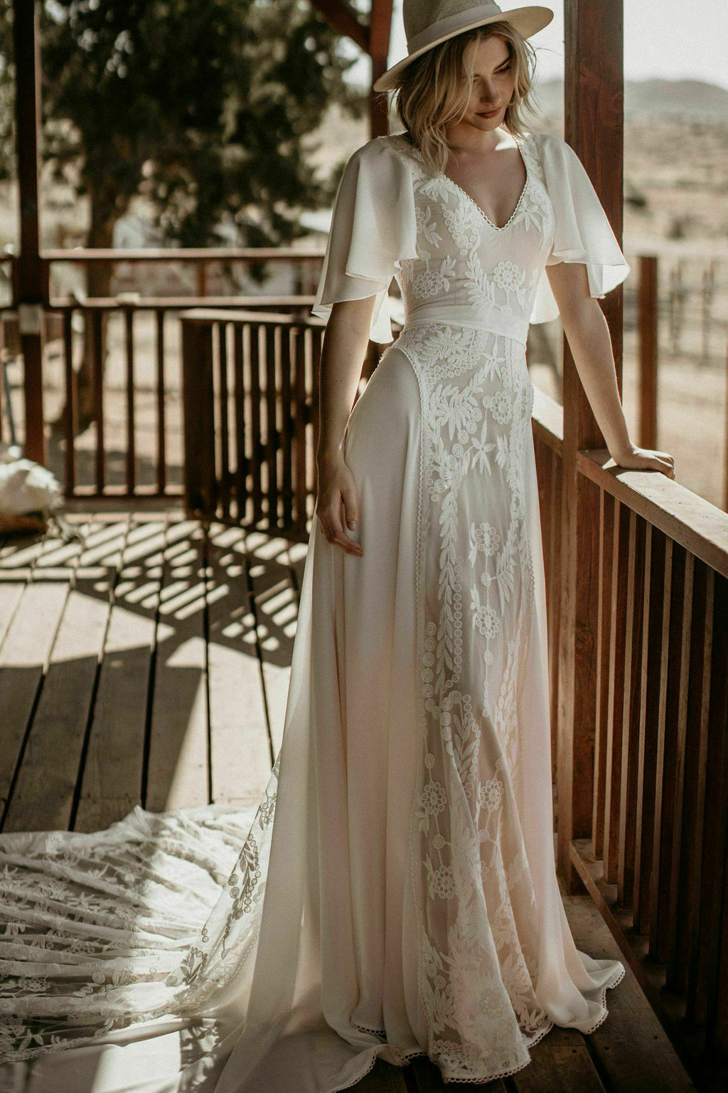 Hayley Romantic Bohemian Wedding Dress Dreamers And Lovers