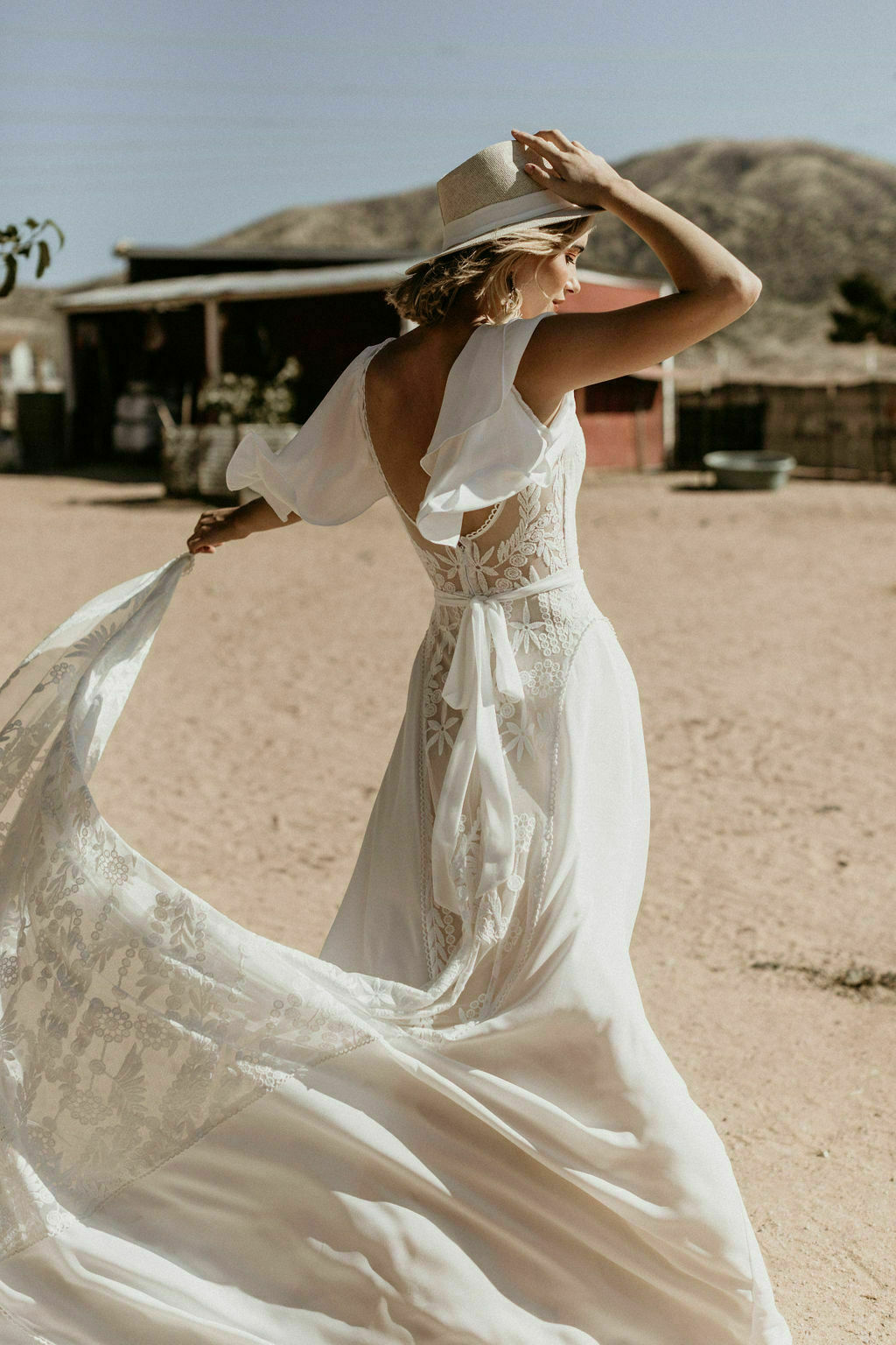 Hayley Lace Crepe Wedding Dress