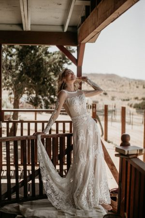 Isabella-long-sleeves-backless-bohemian-wedding-dress-from-the-Chance-collection