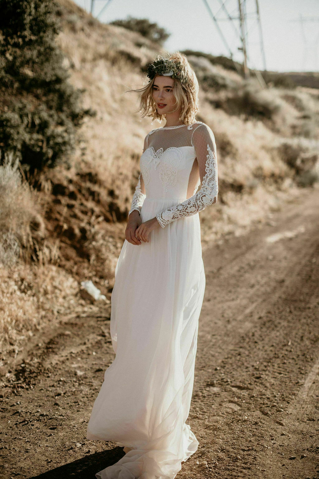 Jane Silk Lace Wedding Dress