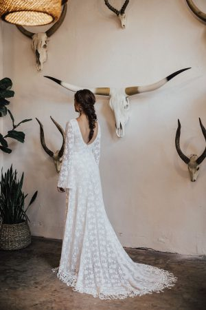 marie-bell-sleeved-stretch-lace-wedding-dress-fringed-hem-for-boho-bride