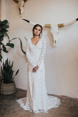 Marie-stretch-cotton-lace-wedding-dress-with-long-sleeves
