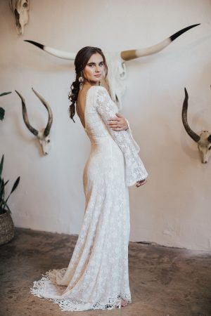 Marie-bohemian-lace-wedding-dress-long-bell-sleeves-v-neck-fringe-hem