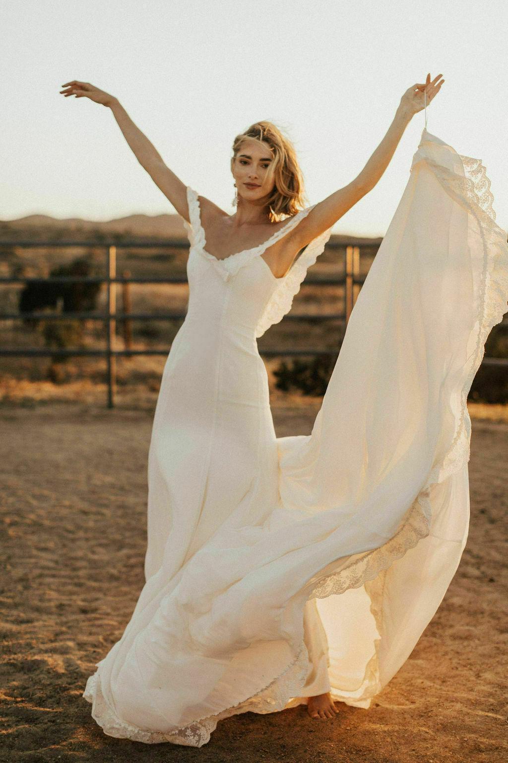 Poppy Crepe Wedding Dress