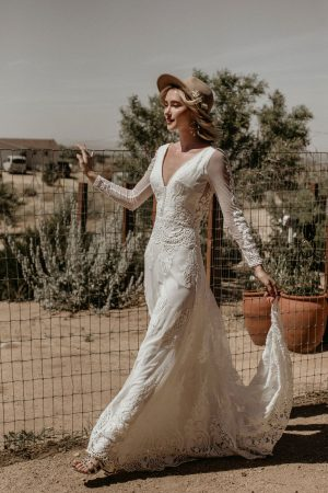one-of-a-kind-dreamy-Victoria-long-sleeves-mesh-lace-bohemian-wedding-dress-made-in-California-to-your-exact-measurements