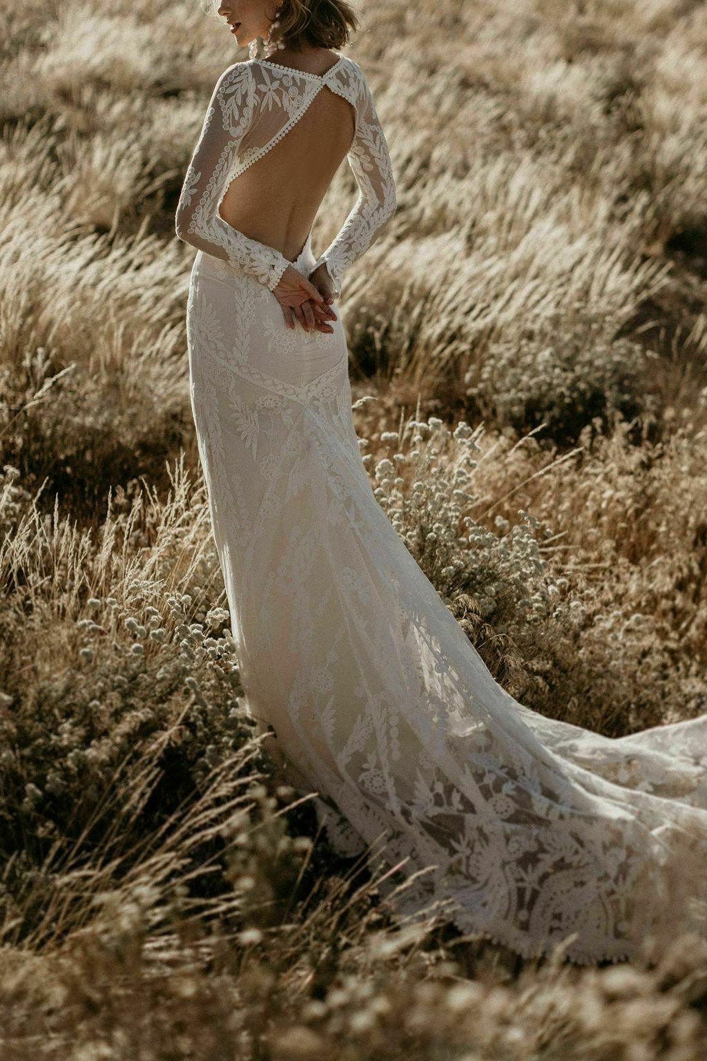 Violetta Backless Boho Wedding Dress