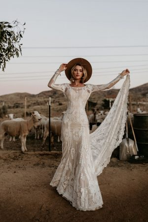 Willow-bohemian-lace-wedding-dress-with-long-sleeves-and-cut-out-open-back-cutout-open-back-and-long-train