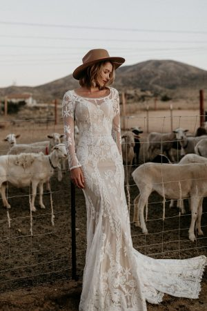 Fall-in-love-with-the-NEW-Willow-lace-wedding-dress-with-long-sleeves-cutout-open-back-and-long-train