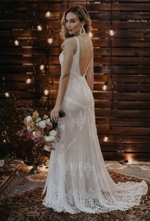 Cecilia-backless-bohemian-lace-beach-wedding-dress