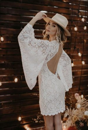 Halley-bell-sleeve-lace-mini-dress
