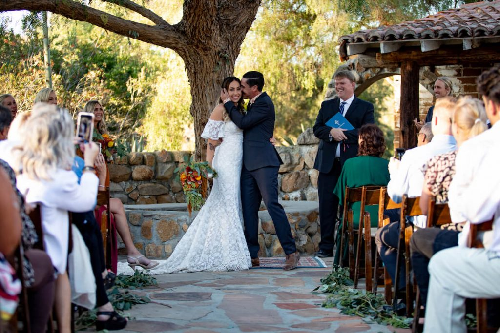 Bohemian wedding at Leo Carrillo Ranch in California