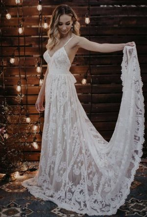 PORTIA FLOWY A-LINE WEDDING DRESS
