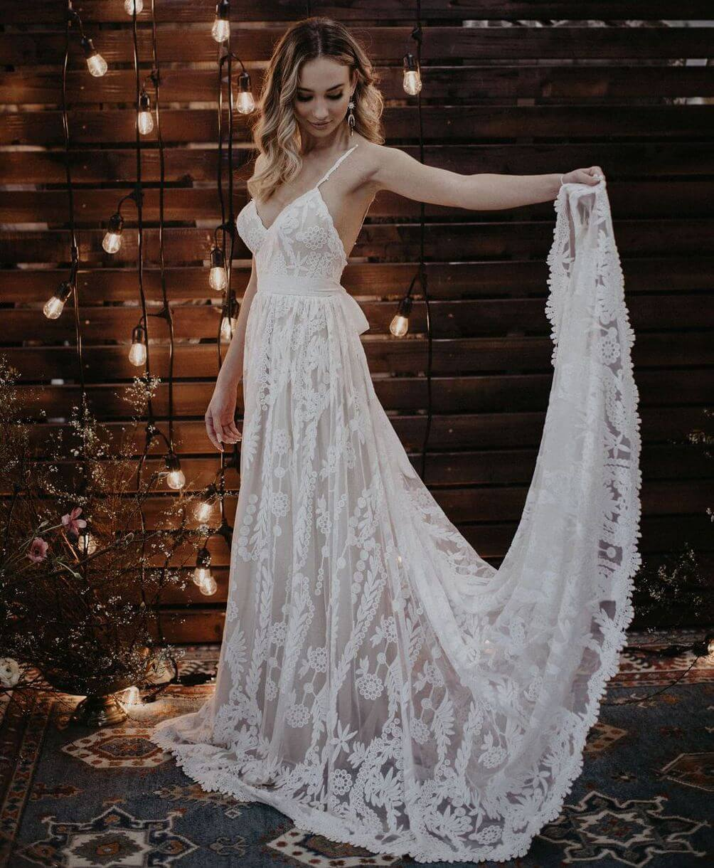 Wedding Dresses: Portia Romantic Flowy Wedding Dress