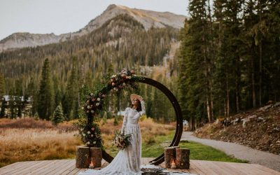 The Perfect Wedding Dress for a Mountain Wedding