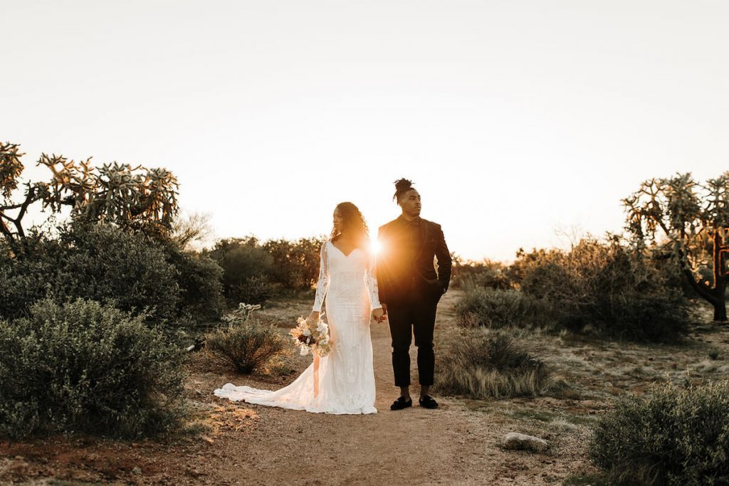 Arizona-Elopement-dreamy-bride-and-groom