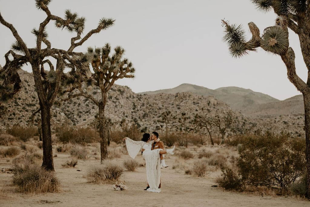 boho elopement dress Joshua Tree