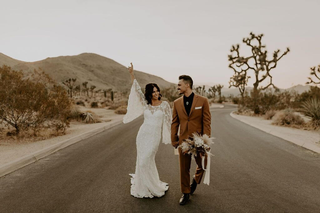 elopement dress ideas Joshua tree