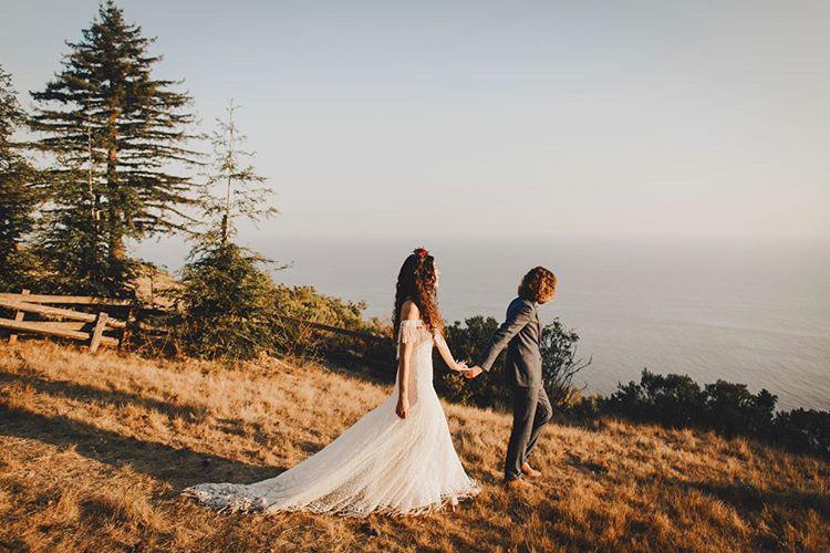 Bride Alyssa Adventure Big Sur Mountain Wedding