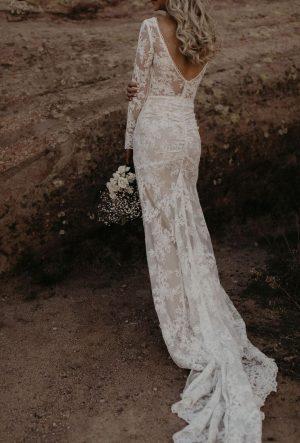 Alyssa-Ruched-Long-Sleeve-Wedding-Dress