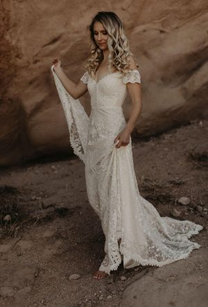 Ruth-off-shoulder-lace-backless-wedding-dress-bohemian-vibes