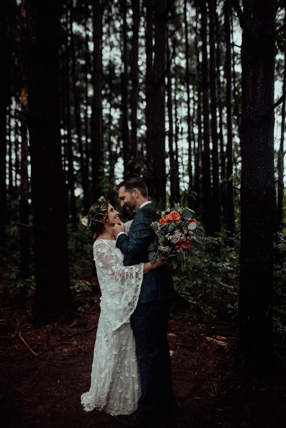 Alison and Curtis Intimate Backyard Wedding
