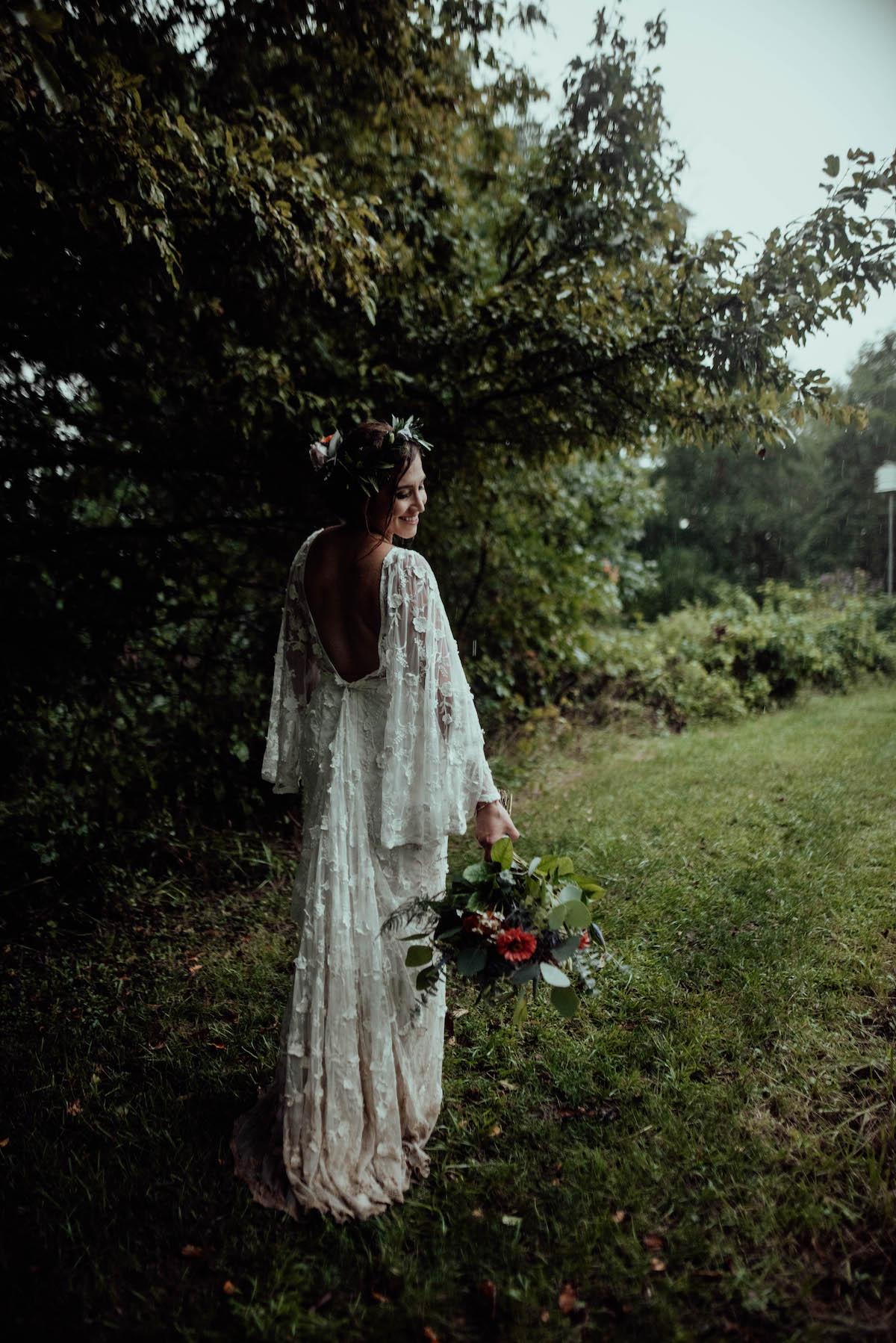 Bride Alison at her Intimate Backyard Wedding